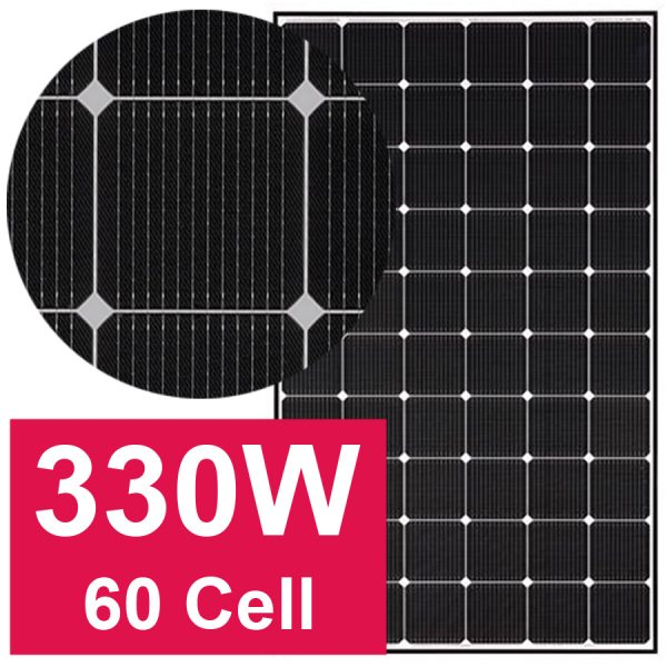 NISU pin mặt trời LG Neon2 330W 60 cell