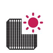 Pin mặt trời LG Neon2 330w được cải thiện vào những ngày nắng