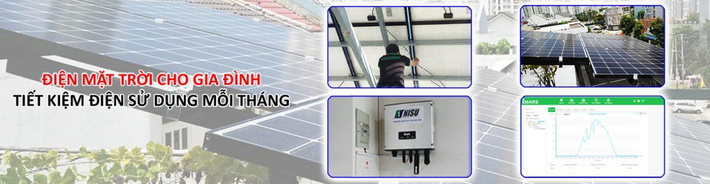 Nisu solar điện mặt trời cho gia đình tiết kiệm tiền điện mỗi tháng