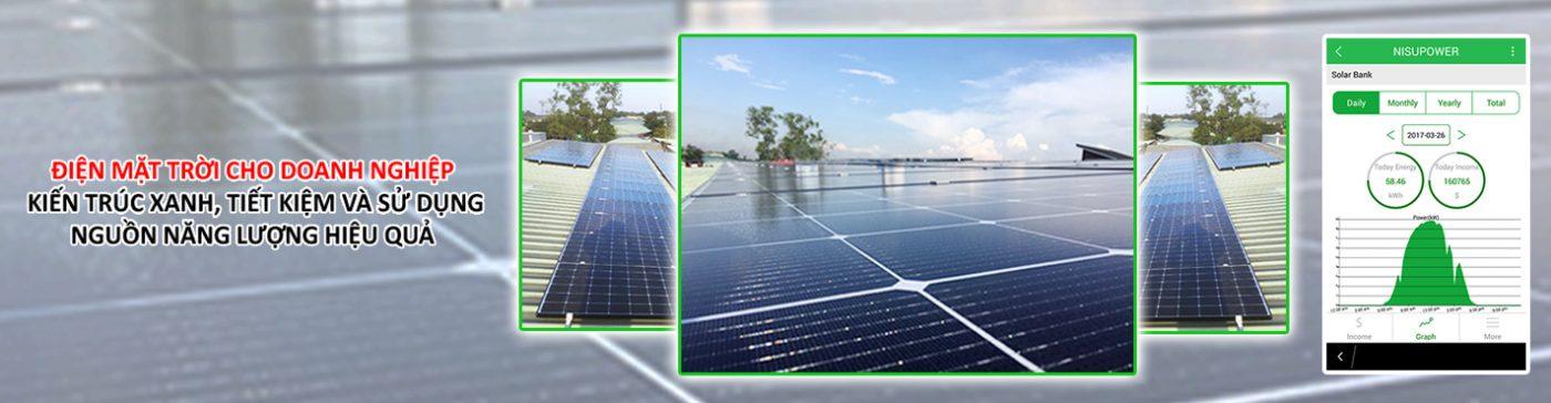 Nisu solar điện mặt trời cho doanh nghiệp