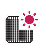 Pin mặt trời LG Neon2 400w được cải thiện vào những ngày nắng